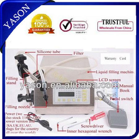 Digital Control 3ml-3000ml Water softdrink liquid filling machine grind - YASON GENERAL MACHINERY CO.,LTD store