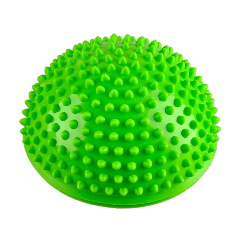 Йога мяч серый точки PVC Раздувной Массаж половина вяжется мяч баланс тренер Стабилизатор тренажерный зал фитнес Пилатес Балансировочная bosu бал