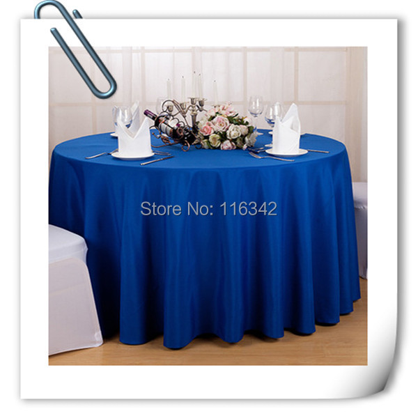 """Big Discount & Factory Price!!! 132"""" Round Polyester 10pcs Blue Table Cloth For Wedding &Party &Hotel &Resturant FREE SHIPPING(China (Mainland))"""
