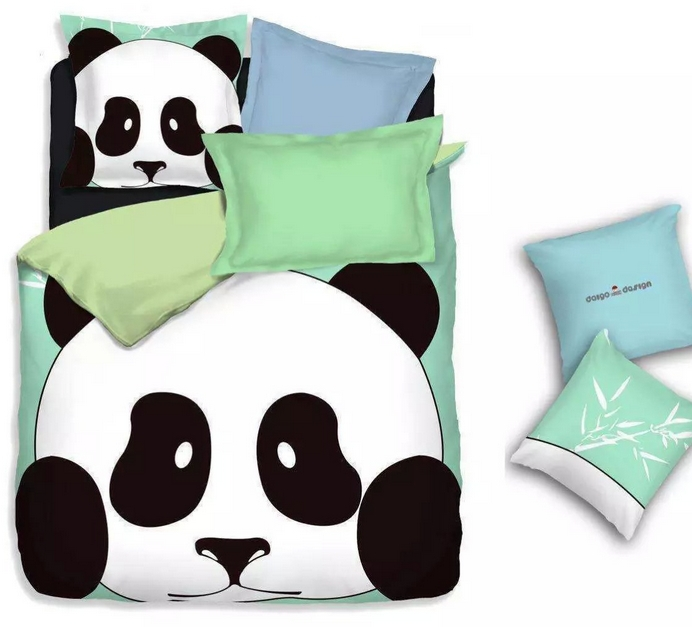 Cotton home textiles panda Bedding Set sheets 3d twin full size bedding sets queen size cartoon duvet cover bedroom sets(China (Mainland))