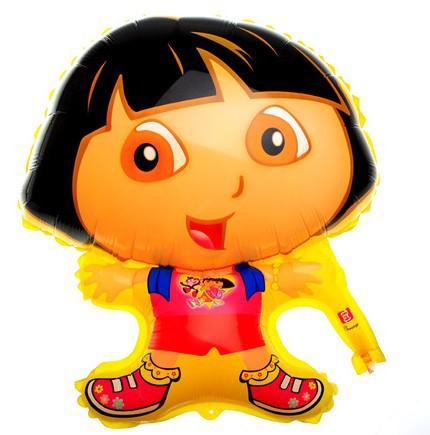 50Pcs/Lot High Quality Children's Party Scene Decor Items Birthday Cartoon DORA Foil Balloons Inflatables Toys(China (Mainland))
