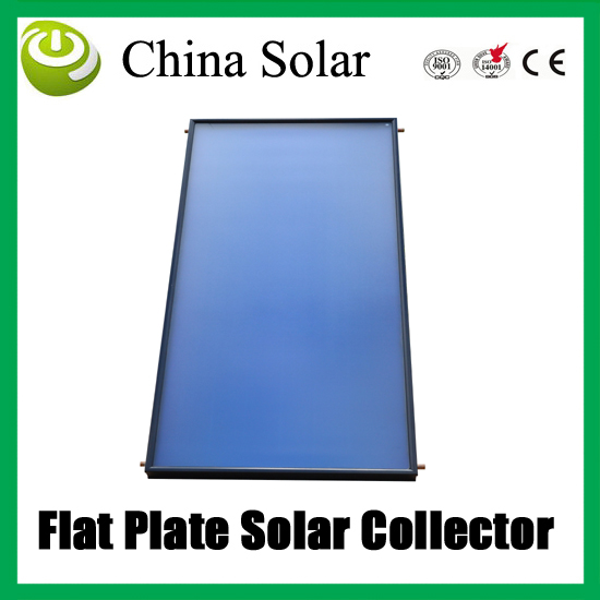 Flat Plate soalr water collector, flat type heater with Blue chrome coating sea shipping 10 pieces/ plywood packaging(China (Mainland))