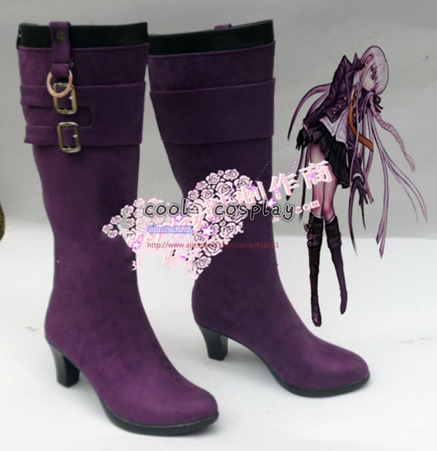 New Arrival Custom Made Danganronpa Kyouko Kirigiri Cosplay Boots Shoes High Quality PleatherОдежда и ак�е��уары<br><br><br>Aliexpress