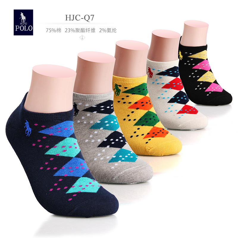 2015 Real Casual Cotton Socks Chaussette 5 Pairs/lot The New Element Classical Diamond Lattice Summer Men Freeshipping Hot Sale(China (Mainland))