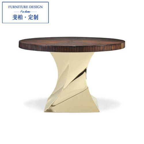Feibo American Village neo-classical post-modern living room furniture custom furniture wood tables round dining table(China (Mainland))