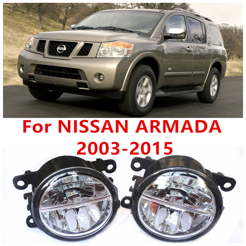 For NISSAN ARMADA   2003-2015  10W Fog Light LED DRL Daytime Running Lights Car Styling<br><br>Aliexpress