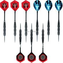 3 sätze von Profi Stahlspitze Darts mit Aluminium dartschäfte legierung Alu Vorbauten und Nizza Dart flights 20 gramm Nadel darts(China (Mainland))