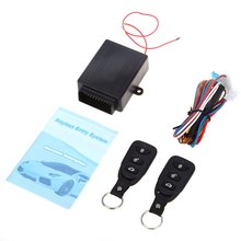Free Shipping Universal Car Auto Remote Central Kit Door Lock Locking Vehicle Keyless Entry System New With Remote Controllers(China (Mainland))