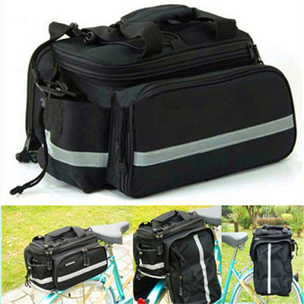 NEW Multi Cycling Bike Travel Bicycle Rear Seat Pannier shoulder Bag Pouch(China (Mainland))