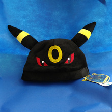 Anime Pokemon Pocket Monsters Cosplay Cap Umbreon Eevee Embroidered Soft Plush Hats Pokemon Hat Styles For Warm Beanies anme cap(China (Mainland))