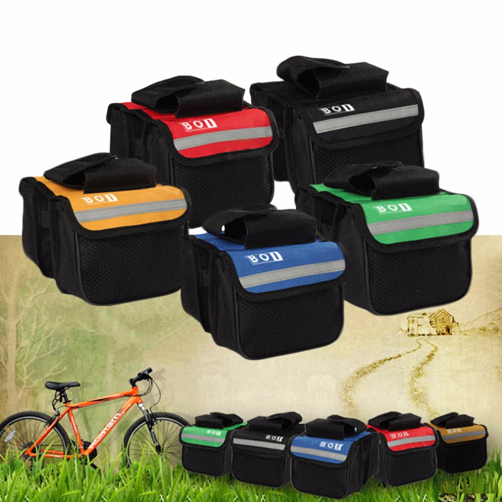 High Quality Cycling Bicycle Bike Top Frame Front Pannier Saddle Tube Bag Double Pouch<br><br>Aliexpress