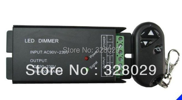 New 2014 Led Dimmer 220V RF Remote Wireless Dimmer LED Strip Dimmer Controller Free Shipping(China (Mainland))
