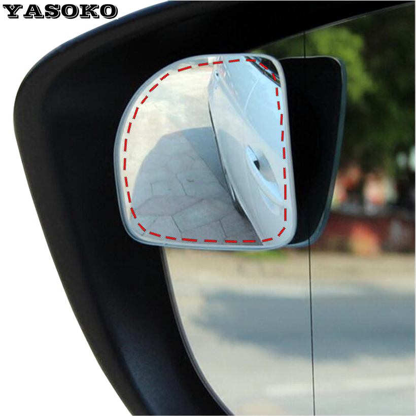 Original 360 Adjustable Degree frameless ultrathin Wide Angle Blind Spot mirror for parking Auxiliary rear view mirrors(China (Mainland))