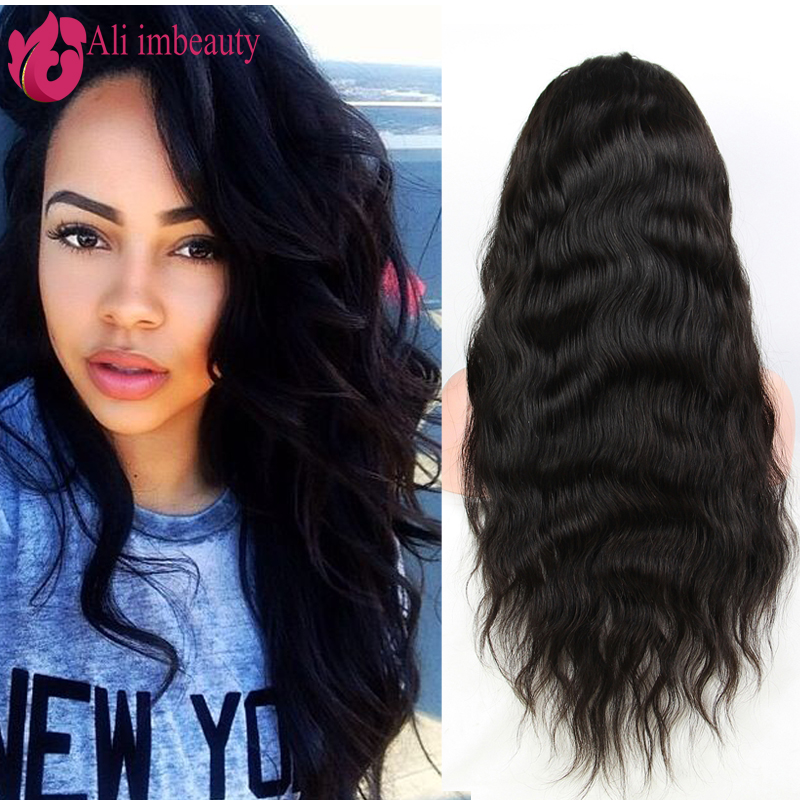 IM Beauty 7A Glueless Full Lace Human Hair Wigs With Baby Hair For Black Women Natural Wave Human hair Lace Front Wigs(China (Mainland))