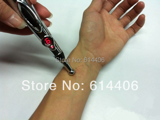 Hot selling energy acupuncture pen electronic meridian acupuncture point detector therapy massage pen No Cream Battery