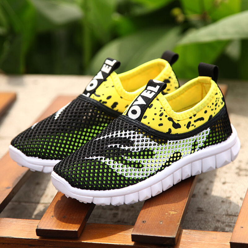 Girls casual shoes for boys 2016 new style breathable mesh kids sneakers fashion children slip-resistant sports shoes(China (Mainland))