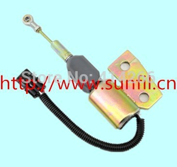 Flameout solenoid valve 3991168 FIT R130 excavator +fast cheap shipping,24V,4PCS/LOT(China (Mainland))