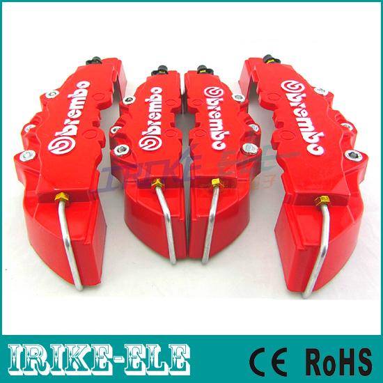 Red color! Brembo Brake Caliper Car Front+ Rear 3D Disc Cover Universal Kit - ShenZhen Irike Electronic Int'l Ltd store