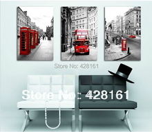 3 Piece Free Shipping Hot Sell Modern Wall Painting London  Landscape Home Decorative Art Picture Paint on Canvas Prints(China (Mainland))