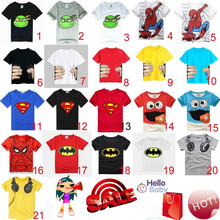 HOT 2016 New children clothes boys girls unisex t shirt cartoon Minions kids short sleeve t-shirts 100% cotton(China (Mainland))
