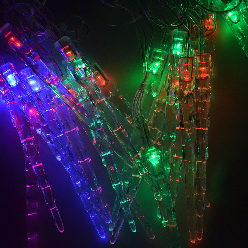Christmas Outdoor Icicles String Lights 5M 20 leds 110V~ 220V Holiday Lights For Xmas Party Wedding Halloween Decoration(China (Mainland))