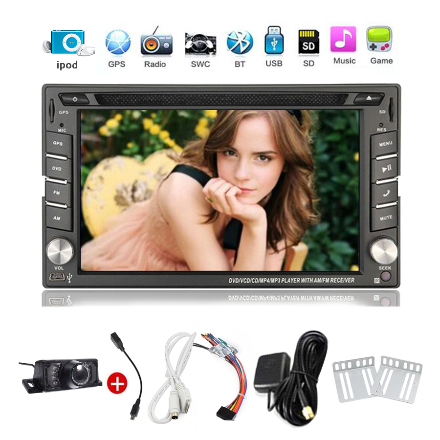 2din Car Radio Double din Car CD DVD Player GPS Navigation In dash Car PC Stereo video built in 8GB GPS Map+Ipod+Free camera(China (Mainland))