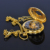 New Gold Flower Type Analog Selekton Mens Hand Winding Mechanical Pocket Watch W015