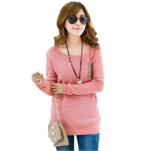 2015 O-Neck Tricotado Knitted Sweaters Women Fashion Pullovers Long Sleeve Winter Thicken Tricot Pullover And Women Sweaters(China (Mainland))