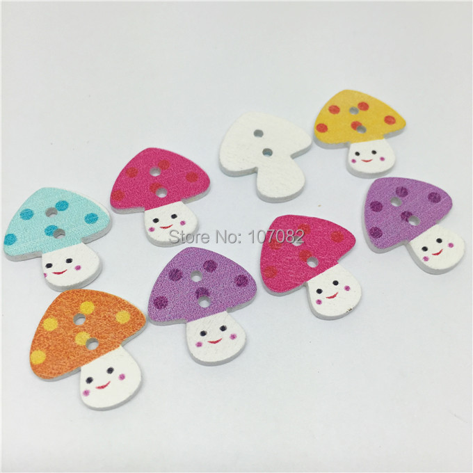1000pcs 17x19mm Multi Mushroom House Wood Buttons 2 Holes Baby Sewing Button Boutons Clothing Accessories Yj-6741(China (Mainland))