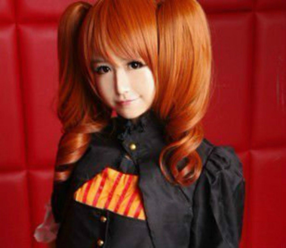 HOT SELL! NEW Sound horizon Marchen Dark Orange Cosplay Wig + 2 Ponytails<br><br>Aliexpress