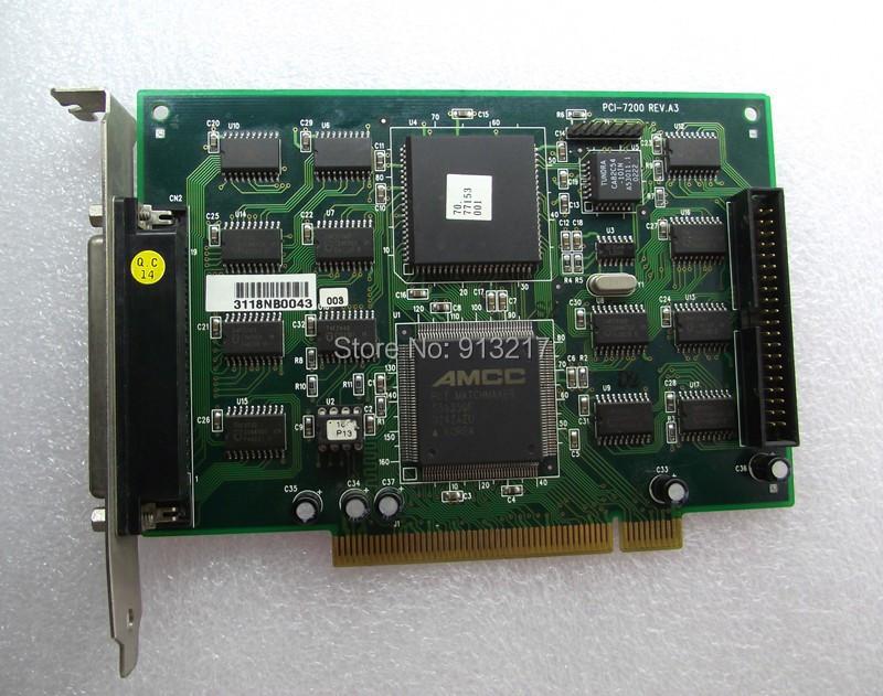 PCI-7200 PCI I/O Capture Card working DHL EMS free shipping(China (Mainland))