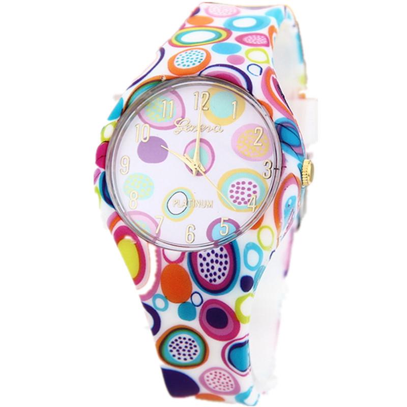 2015 New Fashion 15 Colors Silicone Strap Women Geneva Watch Ladies Dress Women s Quartz Watch