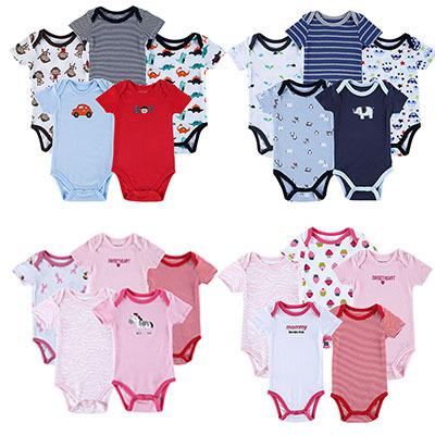 2015 vestidos 5 PCS  Infantil Roupas Bebes Newborn Romper Girl and Boy Wear Fashion Jumpsuit Baby Clothes Babies Infant Clothing<br><br>Aliexpress
