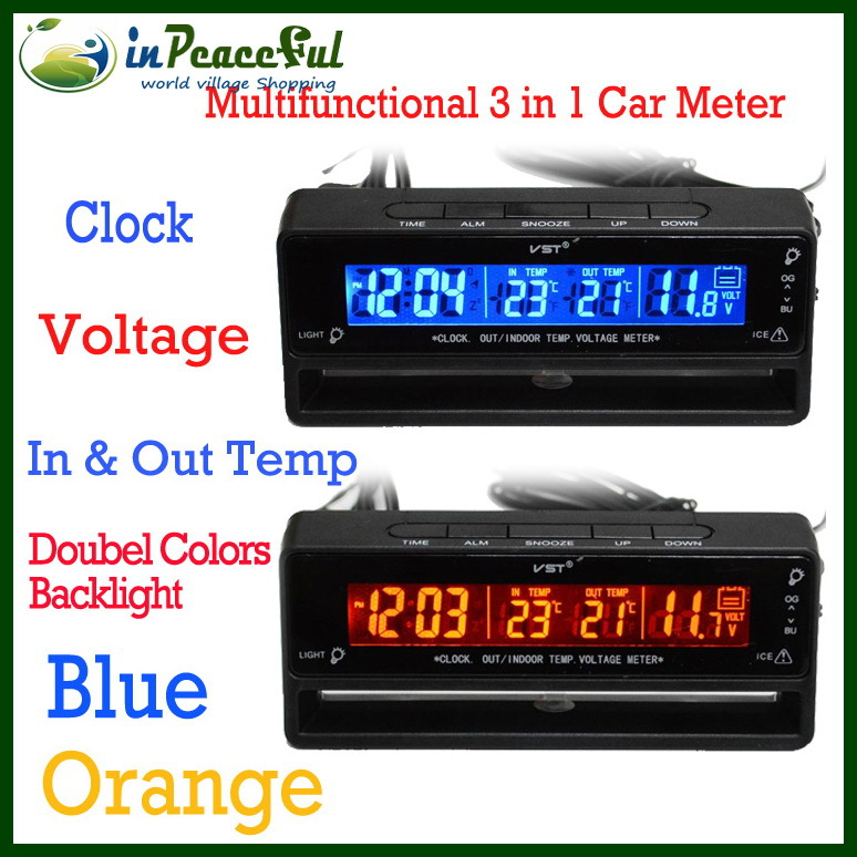 Car Battery Voltage Meter : New arrival v digital auto car thermometer battery