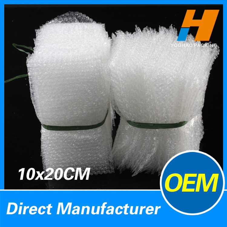 10*20cm Air Bubble Pouches Packaging 10cm 1/2 Inch Diameter LDPE Material 200pcs(China (Mainland))