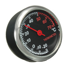 Brand New Mini Mechanics Thermometer Meter Steel Core Pointer Digital Fit For 12V Car(China (Mainland))