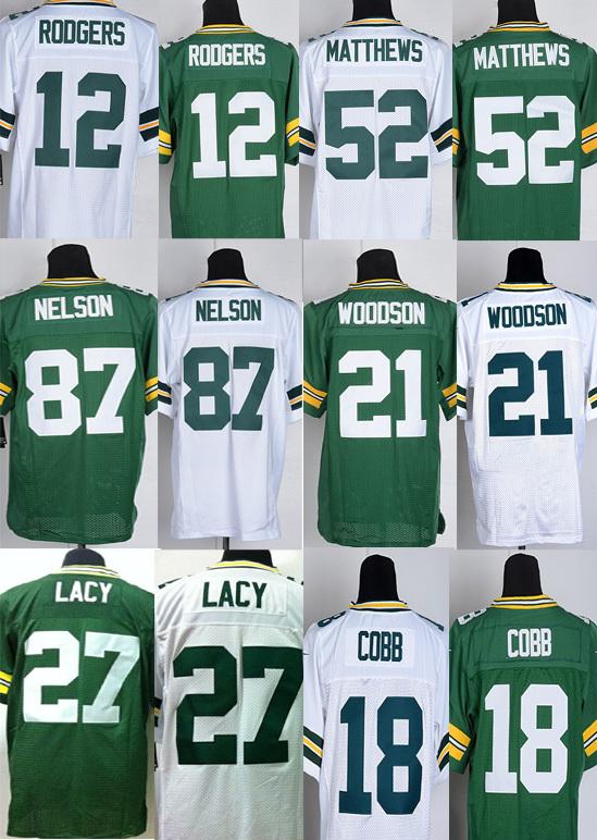Packers #12 Aaron Rodgers jersey Clay Matthews Green Bay Elite Jerseys Eddie Lacy Clinton-Dix American Football Jerseys(China (Mainland))