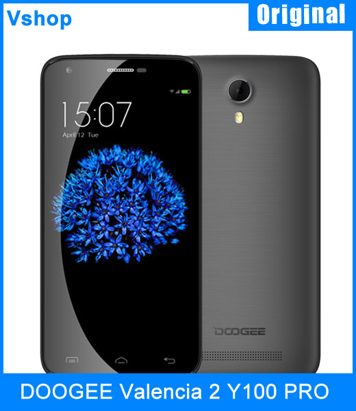 "Original DOOGEE Valencia 2 Y100 PRO 5.0"" Android 5.0 SmartPhone MT6735 Quad Core 1.3GHz 16GBROM 2GBRAM Support OTG In Stock(China (Mainland))"