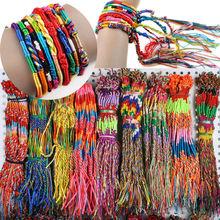 Wholesale Neon Friendship Bracelets, Wrap Rainbow Bracelets, Colorful Bracelets, Summer Woven Bracelets, Beach Bohemian Jewelry(China (Mainland))