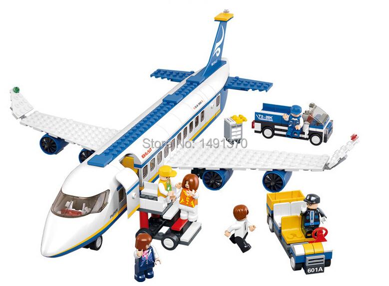 Air Series bricks Air bus Sluban b0366 Lego compatible Building Blocks 483pcs Block Enlighten Toys Children Gift,Children(China (Mainland))