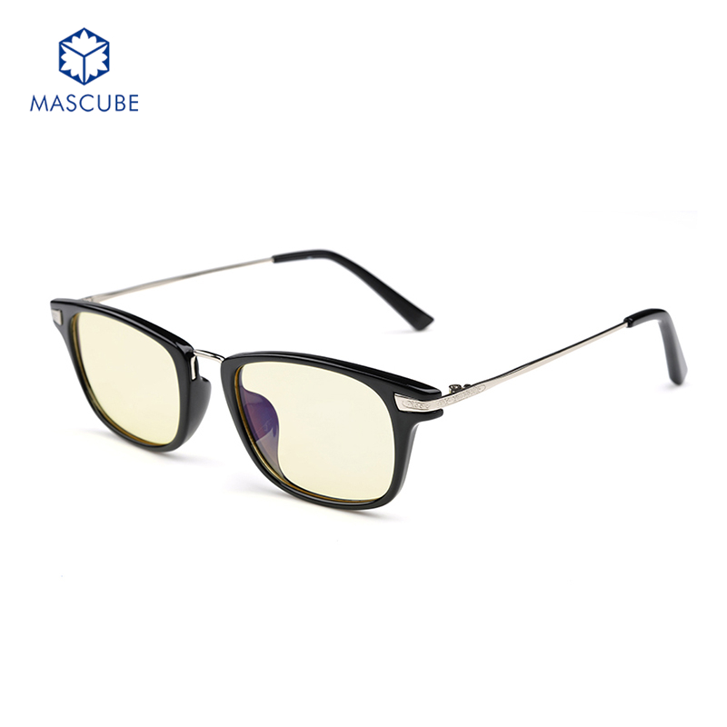 mascubeanti blue frame goggles radiation glasses computer online game fashion glasses eyeglasses frames