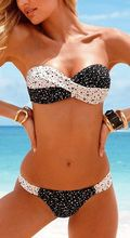 2016 New sexy women summer style bikinis set for female Maillot De Bain Brazilian Bikini push up dot print trendy swimwear