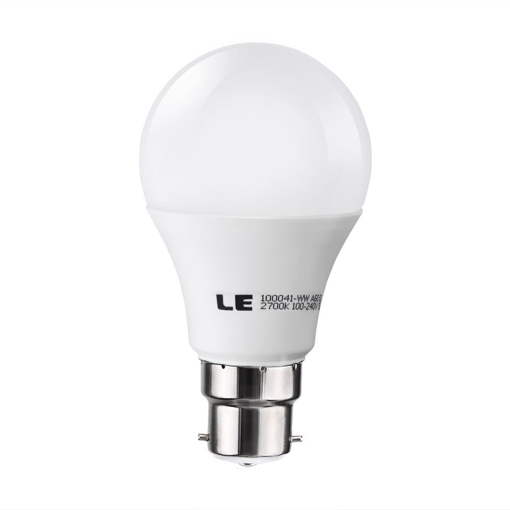 free shipping le 10 watt b22 bayonet led bulb brightest 60 watt incandescent bulbs equivalent. Black Bedroom Furniture Sets. Home Design Ideas