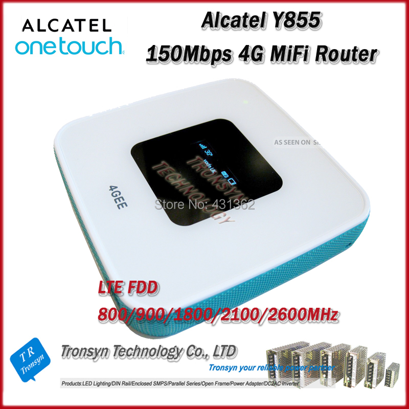 2014 New Arrival Original Unlock LTE FDD 150Mbps Alcatel One Touch Y855 4G MiFi Router Support LTE FDD 800/900/2100/1800/2600MHz(China (Mainland))