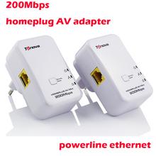 2015 200 Mbps Powerline HomePlug AV Adapter-Kit ethernet-netzwerk-extender WiFi-Hotspots wlan-router eu/uns stecker dropshipping(China (Mainland))