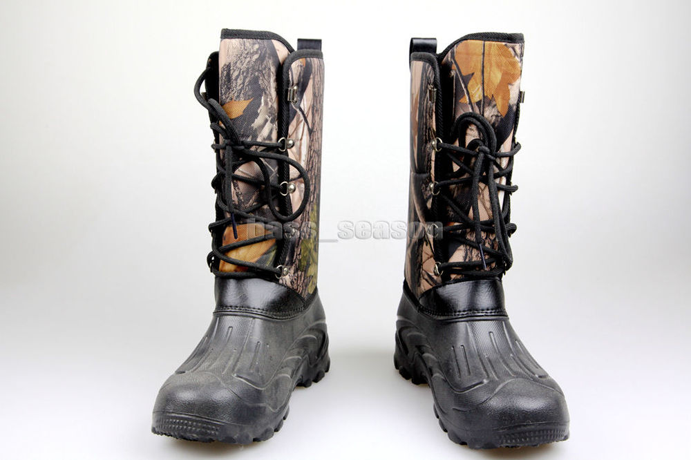 New fishing boots hunting boots waterproof camo for Waterproof fishing shoes