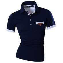 New Mens Summer Fashion Casual Polo Shirt Designed Short Sleeves Shirt Slim Fit Trend Solid color 4 Colors S M L XL U012