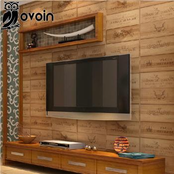 Wood box pvc wallpaper 3D Vintage Retro Decorative Wine Box Plaid Zakka background wall wallpaper vinyl for living room WP207