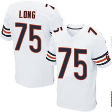 Men's #75 Kyle Long Elite White Football Jersey 100% stitched(China (Mainland))
