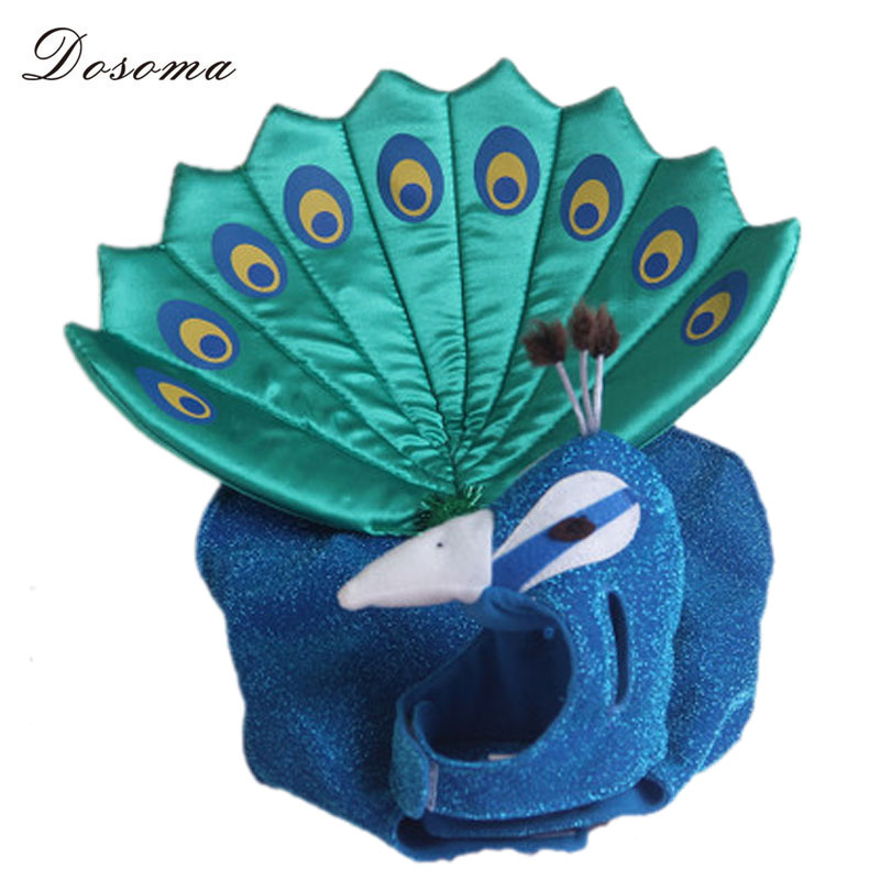 Cute Cosplay Blue Peacocks Cats And Dogs Performance Apparel Dog Fashion Clothes Small Dog Cat Puppy Adjustable Outfit Costume(China (Mainland))